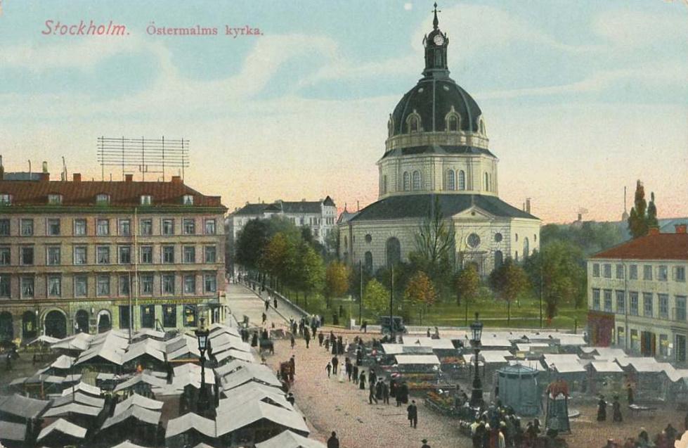 Före Stockholms Undergång  Hedvig_Eleonora_kyrka_vykort_ca_1900