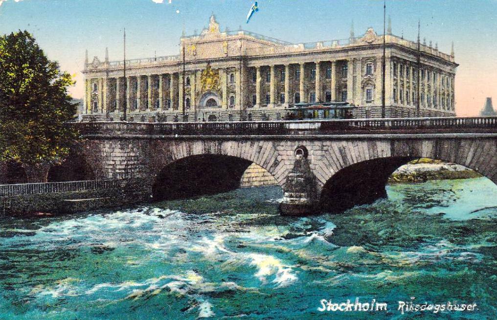 Före Stockholms Undergång  Riksdagshuset_ca_1905_b
