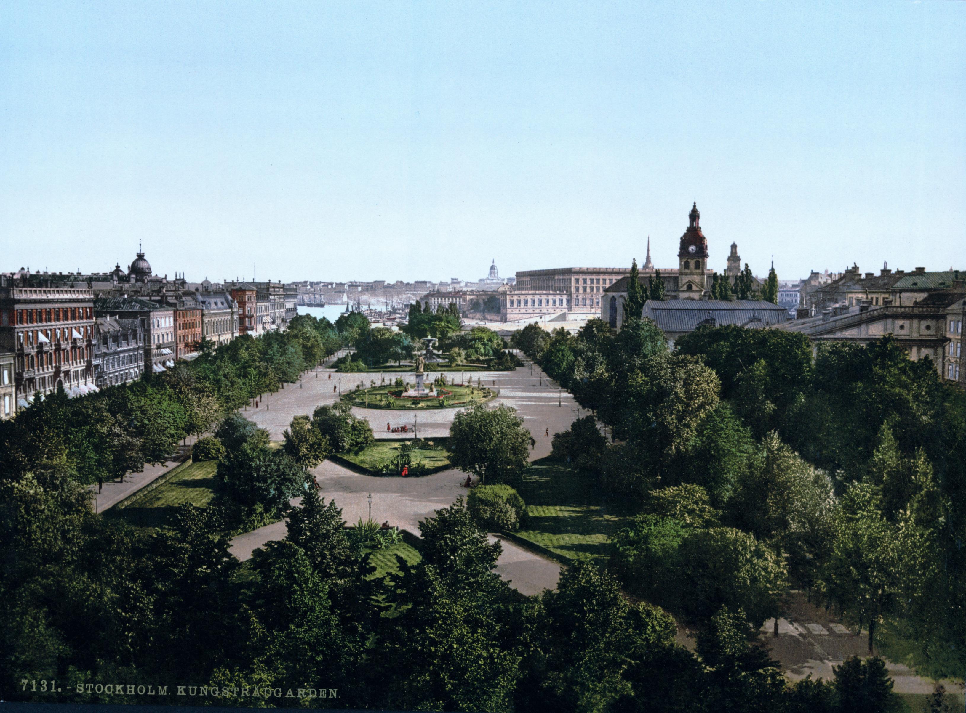 Före Stockholms Undergång  Stockholm_Kungsträdgården_(1890-1900)