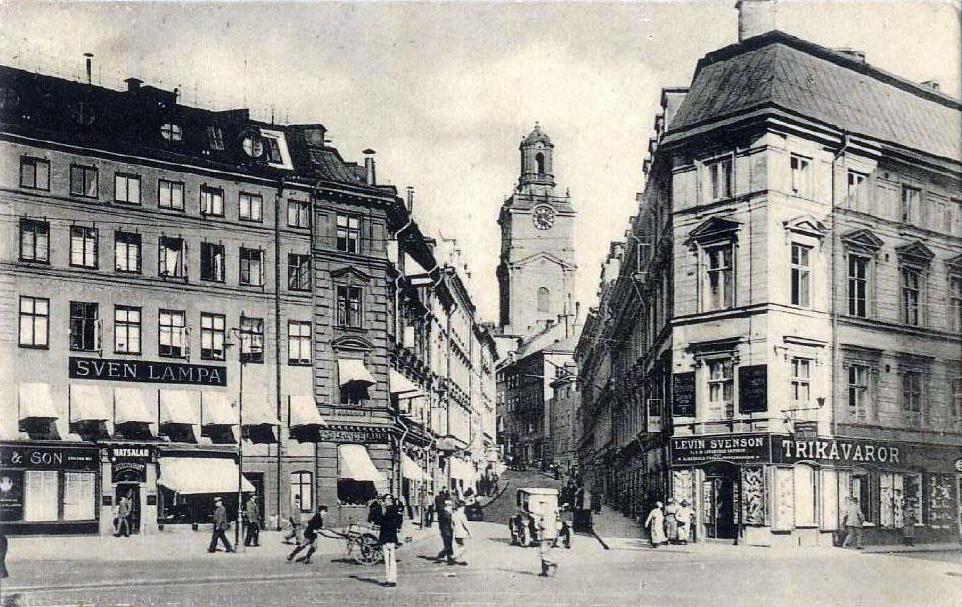 Före stockholms undergång  Storkyrkobrinken_ca_1928