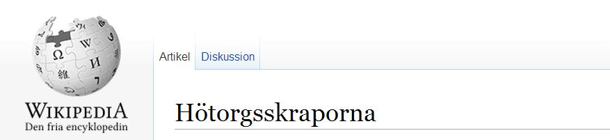Hötorgsskraporna stockholms undergång
